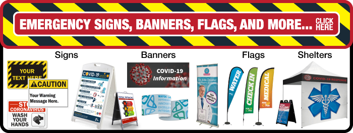 Emergency Signage Banner Ad